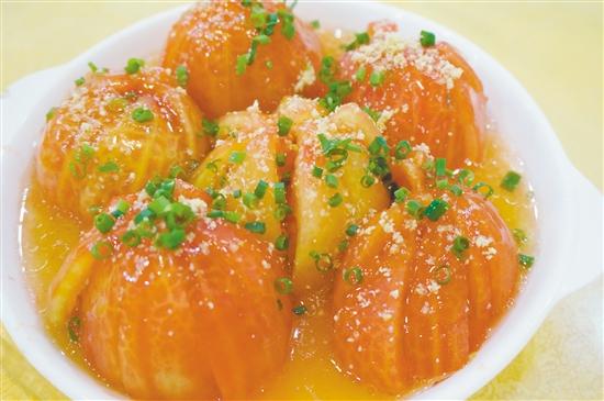 陈皮蒸番茄酸甜甘香。