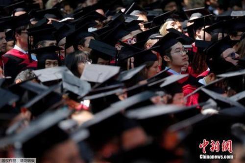 资料图:哈佛大学举行毕业典礼.