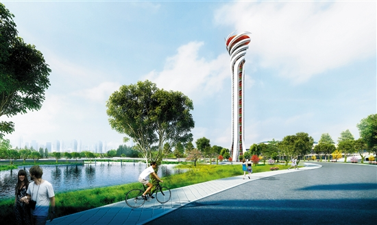 江门体育中心火炬景观塔怎么建?3个方案征意见