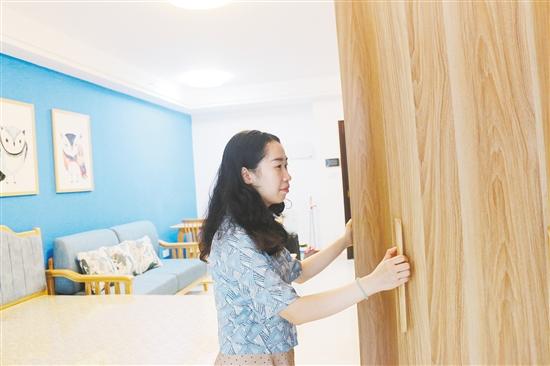 吴慧珺是首批入驻人才公寓的教师。