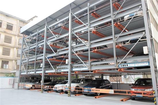 农发行江门分行停车场投入使用后,切实解决了那里的停车难问题。