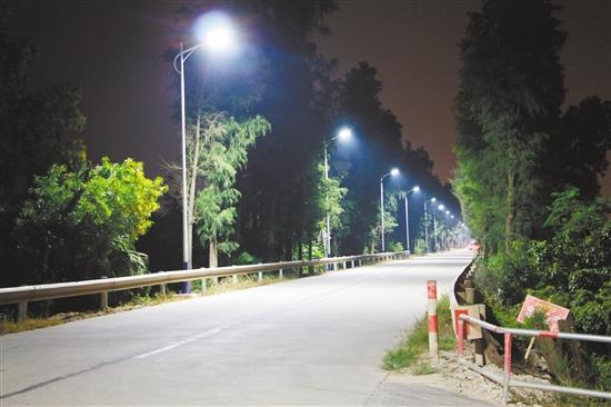 """台山市水步镇��委证府把群众反映的问题列为重点工作来督办,让村民不再""""摸黑走夜路""""。"""