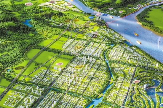 银湖湾滨海新区沙盘。