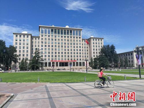 资料图:清华大学校园内 中新网记者 张尼 摄
