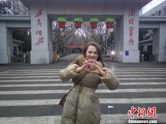 俄罗斯姑娘美佳已经是第四年在南京度过中国春节。 被采访者提供