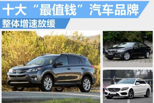 """揭秘十大""""最值钱""""汽车品牌 整体增速放缓"""